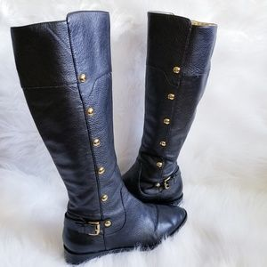Michael Kors Gold Studded Riding boots
